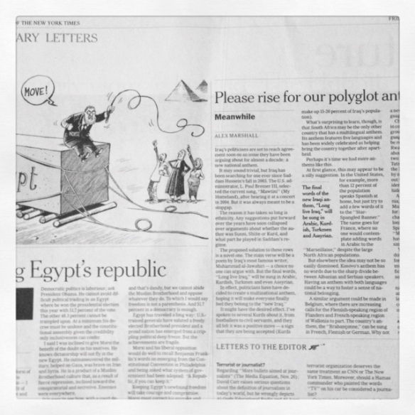 International Herald Tribune op-ed pages