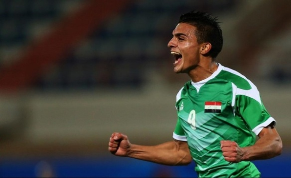 Iraqi footballer Ahmed Yasin