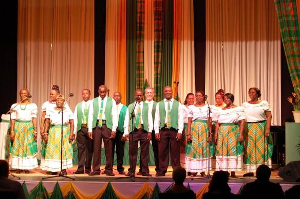 Emerald Community Singers at Montserrat national song contest event