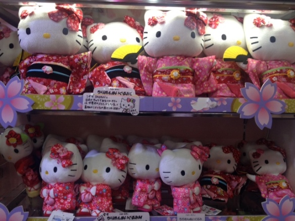 Hello Kitty dolls in Kiddy Land, Tokyo