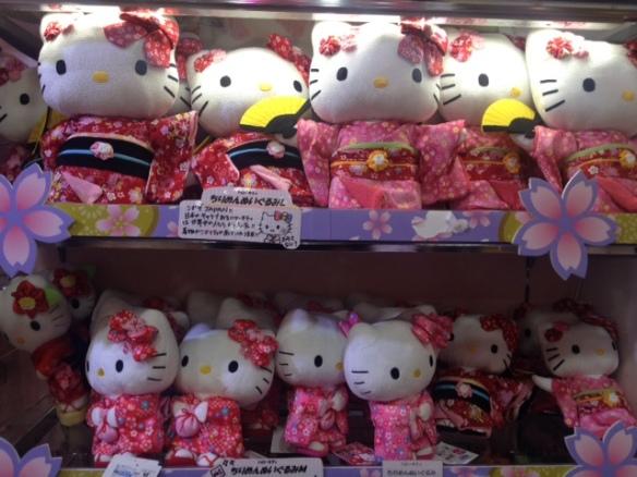 Hello Kitty dolls in Kiddy Land, Tokyo