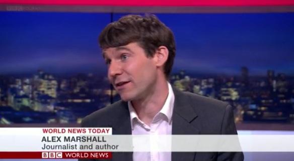Alex Marshall on BBC news