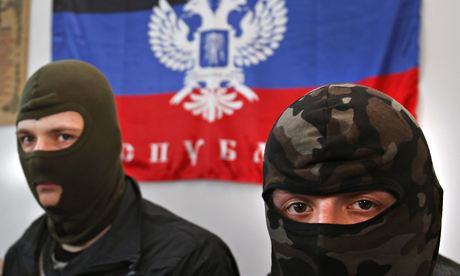 This is Sergei Grits/AP's photo of some masked activists in the Donetsk People's Republic. Apologies for stealing it, but it's really good and I'm not there to take my own!