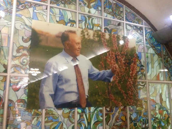 Nazarbayev in the subway