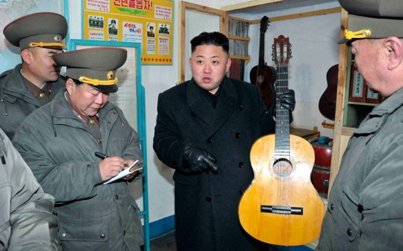 Kim Jong-Un with a guitar!