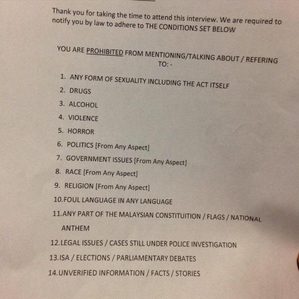 Malaysian press rules