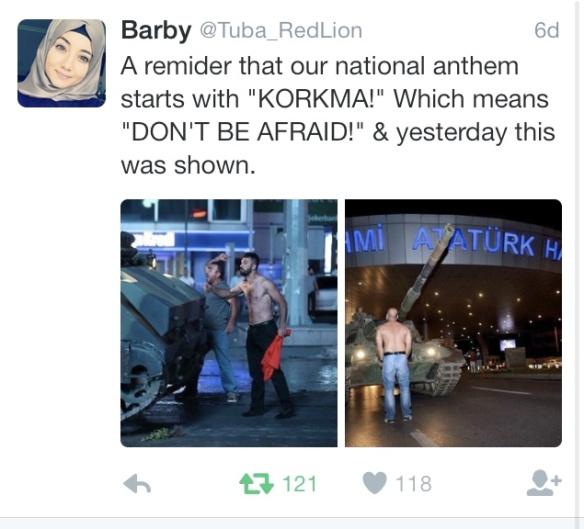 Turkey coup tweet