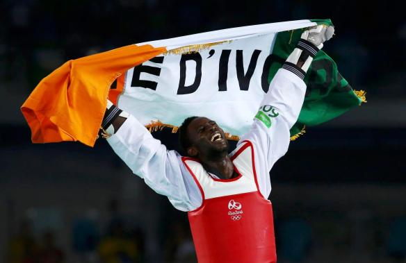 Ivory Coast winning its first gold