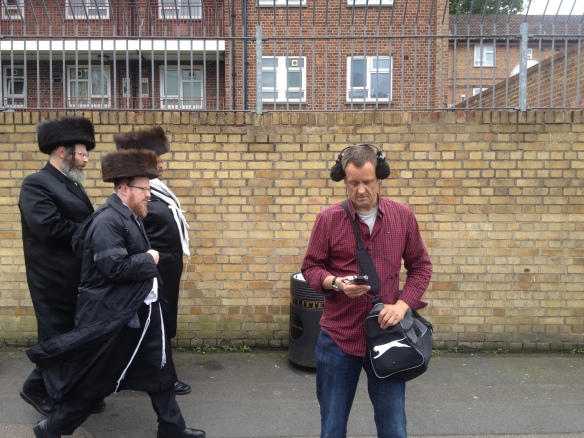 The London Sound Survey at work recording in Stamford Hill, north London