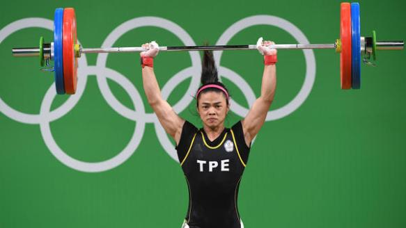 Hsu Shu-ching who won gold lifting 212kg. That's three of me! Bloody hell!