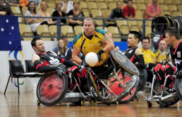 Australia on their way to winning gold at the wheelchair rugby. Always an amazing sport to watch